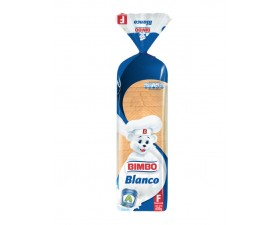 Pan Tajado Blanco Bimbo Familiar  X  600 G